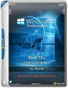 Windows 10 Professional BLUE SKY by novik (Game) (x86)