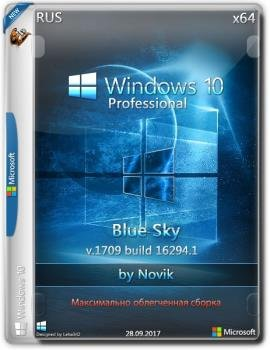 Windows 10 Professional BLUE SKY by novik (Game) (x64)