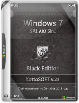 Windows 7 SP1 x64 5in1 Black Edition v.23 by KottoSOFT