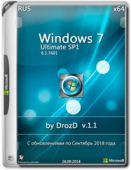 Windows 7 Максимальная SP1 x64 09.2018 v.1.1 by DrozD