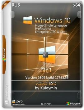 Windows 10 (v1809) x64 5in1 by kuloymin v15.1