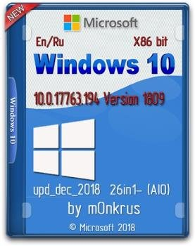 Windows 10 v1809 -26in1- (AIO) update dec 2018 by m0nkrus (x86)