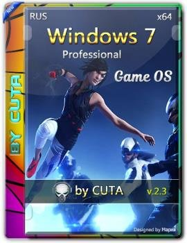 Windows 7 Professional SP1 Game OS 2.3 by CUTA x64bit