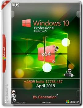 Windows 10 Pro RS5 v.1809.17763.437 OEM April 2019 by Generation2