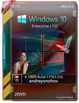 Windows 10 Enterprise LTSC 2019 17763.316 Version 1809 2 DVD (x86-x64)