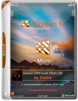 Микро сборка Windows 10 Enterprise x64 2004 build 19041.388 by Zosma