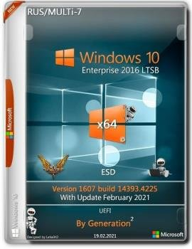 Windows 10 Enterprise LTSB x64 v.1607.14393.4225 Feb 2021 by Generation2